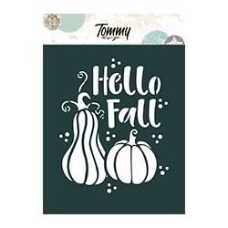 Stencil Tommy Design A6 - Hello Fall