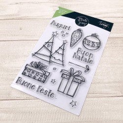 CLEAR STAMPS  MODASCRAP - LINEA TOMMY - BUONE FESTE