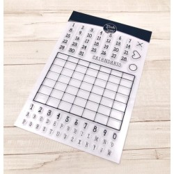 CLEAR STAMPS  MODASCRAP - LINEA TOMMY -CALENDAR