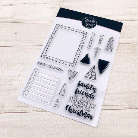 CLEAR STAMPS  MODASCRAP - GOOD CHEER FOR CHRISTMAS