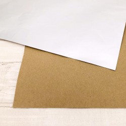 "Carta Speciale Modascrap ARGENTO OPACO / KRAFT 1 foglio 12""x12"""