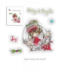 Timbri Polkadoodles Winnie Merry & Bright Clear Stamps