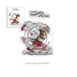 Timbri Polkadoodles Winnie Wonderful Time Clear Stamps