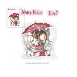 Timbri Polkadoodles Winnie Winter Wishes Clear Stamps