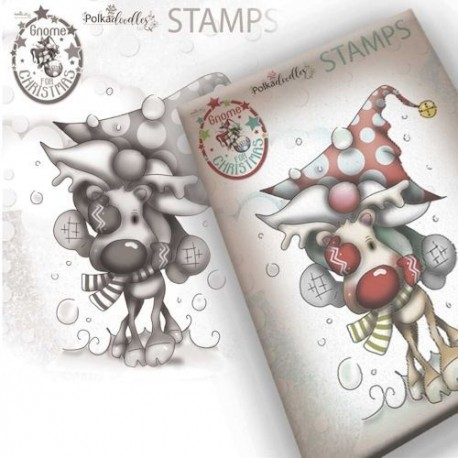 Timbro Polkadoodles Gnome Christmas Love Clear Stamp
