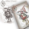 Timbro Polkadoodles Gnome Let's Go Clear Stamp