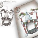 Timbro Polkadoodles Gnome Peace & Joy Clear Stamp
