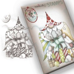 Timbro Polkadoodles Gnome Gift Of Xmas Clear Stamp