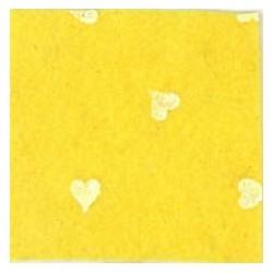 Pannolenci cuori giallo/bianco