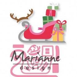 Marianne Design Slitta babbo natale