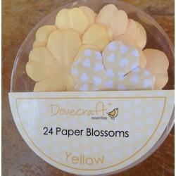 Dovecraft Paper blossom yellow