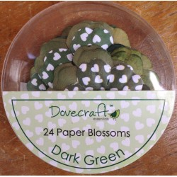 Dovecraft Paper blossom dark green
