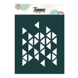 Stencil Tommy Design A6 - Texture Triangoli