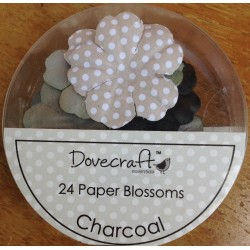 Dovecraft Paper blossom charcoal