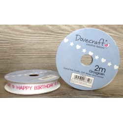 Dovecraft ribbon happy birthday