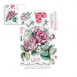 Timbri Polkadoodles Love & Kisses Clear Stamps
