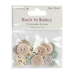 Dovecraft Berry Blush wooden buttons