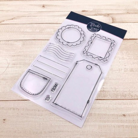CLEAR STAMPS  MODASCRAP - FOREVER GREEN