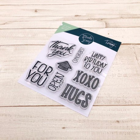 CLEAR STAMPS MODASCRAP - LINEA TOMMY - XOXO