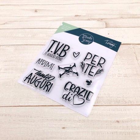 CLEAR STAMPS MODASCRAP - LINEA TOMMY - T.V.B.