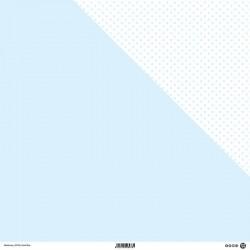 1 Foglio Cartoncino MODASCRAP - PASTEL BLUE - DOUBLE FACE pois 30,5x30,5cm