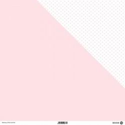 1 Foglio Cartoncino MODASCRAP - PASTEL PINK - DOUBLE FACE pois 30,5x30,5cm