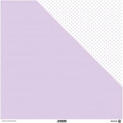 1 Foglio Cartoncino MODASCRAP - PASTEL PURPLE - DOUBLE FACE pois 30,5x30,5cm