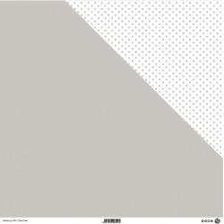 1 Foglio Cartoncino MODASCRAP - PASTEL TAUPE - DOUBLE FACE pois 30,5x30,5cm
