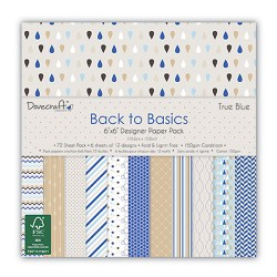"Dovecraft back to basic paper pack true blue 6""x6"""