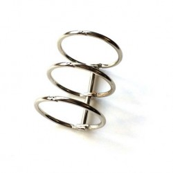 Meccanismo a 3 anelli 30mm argento - Binding 3 rings silver