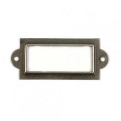 2 porta etichette argento anticato