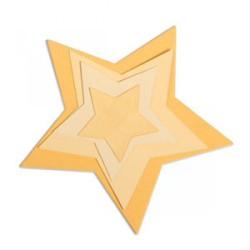 Sizzix Framelits Die Set 5PK - Stars