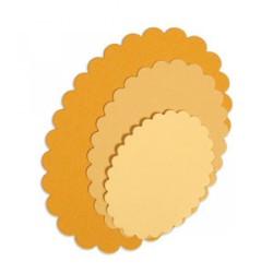Sizzix Framelits Die Set 4PK - Ovals, Scallop