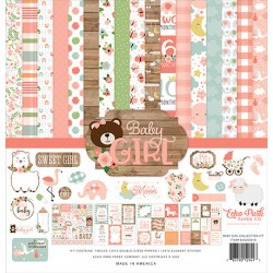 """Echo Park Baby Girl 12x12"""" Collection Kit"""