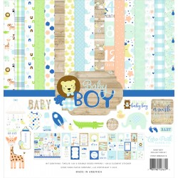 """Echo Park Baby Boy 12x12"""" Collection Kit"""