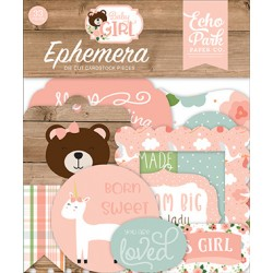 Echo Park Baby Girl Ephemera