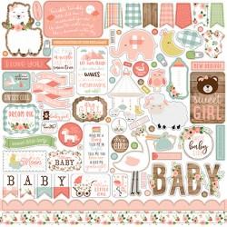 """Echo Park Sweet Baby Boy 12x12"""" Element Sticker"""