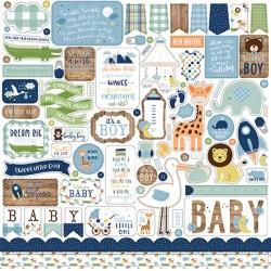 """Echo Park  Baby Girl 12x12"""" Element Sticker"""