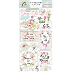 Carta bella SUMMER MARKET Chipboard accents