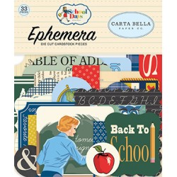 Carta Bella School Days Ephemera