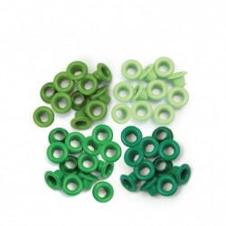 We R Memory Keepers • Standard Eyelet Green x 60