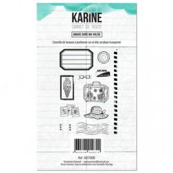Timbri Clear Stamps Les Atelier de Karine - Carnet de route Jamais sans ma valise