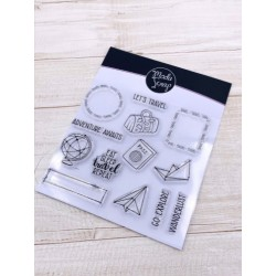 CLEAR STAMPS MODASCRAP - POSTAGE TRAVEL