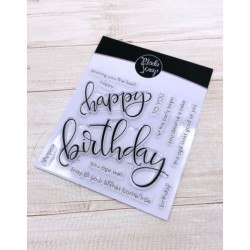CLEAR STAMPS MODASCRAP - HAPPY BIRTHDAY