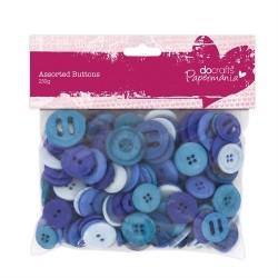 Bottoni assortiti, 250gr - Blue