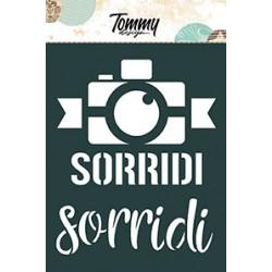 Stencil Tommy Design A6 - Sorridi