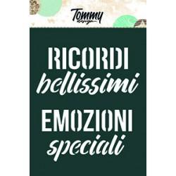 Stencil Tommy Design A6 - Ricordi Bellissimi
