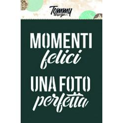Stencil Tommy Design A6 - Momenti Felici