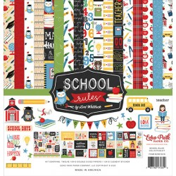 "Echo Park School Rules 12x12"" Collection Kit"