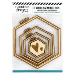 Abbellimenti Legno Florileges design - Telai Esagonali